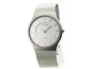 Mens Skagen Steel Ultra Slim Dress Watch 233LSS