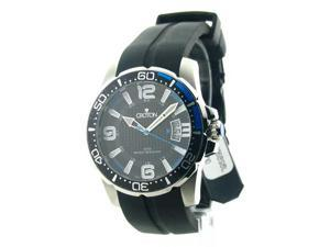 Mens Croton Rubber 24 Hour Date Watch CA301205BSBL