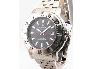 Mens Croton Steel Automatic 10 Atm Date New Watch CA301124SSBK