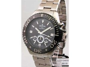Mens Croton Steel Chronomaster 24 Hr Watch CC311240SSBK