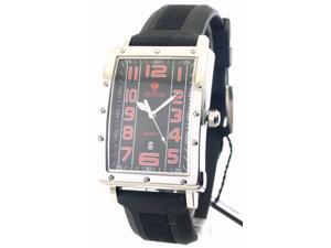 Mens Croton Rubber Date Watch CN307088BSRD