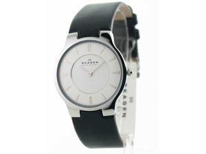 Mens Skagen Leather Ultra Slim Fashion Watch 433LSLB1