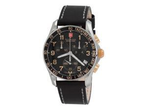 Swiss Army Victorinox Men's Classic Chronograph Black Dial Watch 241181