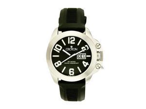 Men's Croton Bold Color Black Strap Swiss Watch CA301195BSBK