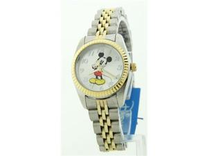 Disney Women's Mickey Mouse Two-tone Stainless Steel Band Watch MCK545