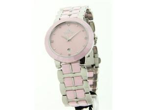 Womens Croton Ceramic & Stainless Steel Date Watch CN207318SSPK