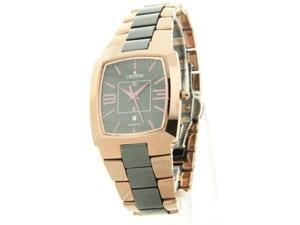 Croton Men's Tungsten & Ceramic Date Dress Watch CN307364BRBK