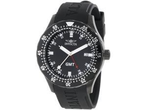 Invicta Men's 11258 Specialty GMT Black Dial Black Polyurethane Date Watch