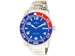 Mens Croton Divers Aquamatic Steel Date 30ATM Large date Watch CA301048SSBL