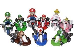 Nintendo Mario Kart Wii Set of 9 Pull Back Racers