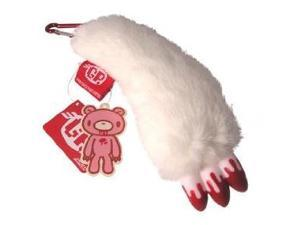 Gloomy Bear White Paw With Bloody Nails Plush Keychain Strap