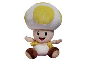 "Nintendo Super Mario Bros. Wii Yellow Toad 7"" Plush Doll"