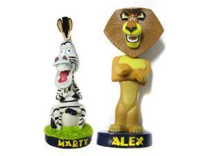 Madagascar Bobble Head Set of 2 (Marty Zebra & Alex Lion)