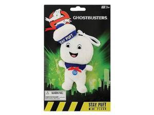 """Ghostbusters 4"""" Stay Puft  Happy Face Marshmallow Man Talking Plush  Clip On"""