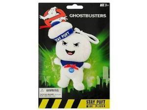 "Ghostbusters 4"" Stay Puft Angry Face Marshmallow Man Mini Singing Plush Clip On"