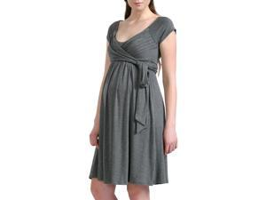 Momo Maternity Women's 'Gabby' Jersey Wrap Dress - Gray M