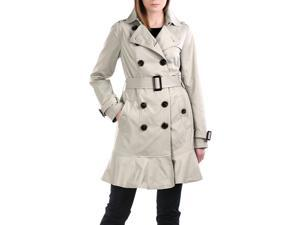 Jessie G. Women's 'Audrey' Skirted Hem Trench Coat - Tan XL