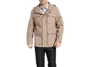 BGSD Men's 'Terrain' Hooded Field Jacket - Khaki L