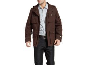 BGSD Men's 'Terrain' Hooded Field Jacket - Brown L