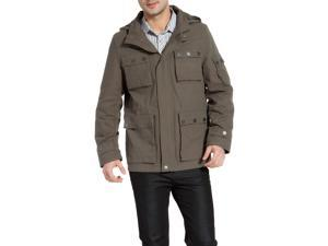 BGSD Men's 'Terrain' Hooded Field Jacket - Olive L