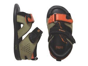 "Umi Boys' ""Zanne"" Leather Ankle Strap Sandals in Olive (Baby, Walker & Toddler)"
