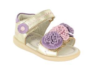 "Umi Girls' ""Pommie"" Leather Ankle Strap Sandals in Gold or Pink (Baby, Walker & Toddler)"