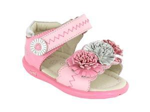 Umi Girls' Pommie Leather Ankle Strap - Pink 5