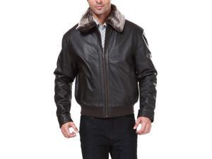 Landing Leathers Men's Cowhide Leather Flight Bomber Jacket - X-Large