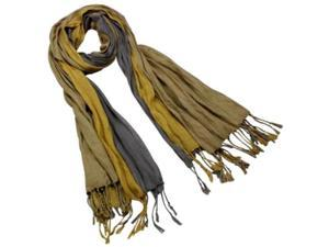 Dahlia SF0044VSM-CP Men's Triple Color Layer Fringed Scrunch Long Scarf - 100% Viscose