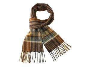 100% Wool Men's Winter Plaid Tassels Ends Long Scarf - Various Colors