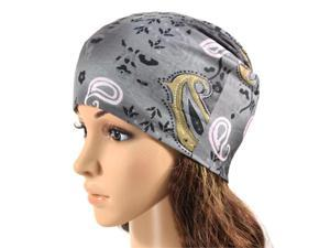 Multi-functional Microfiber Head Wear - Paisley (Gray)