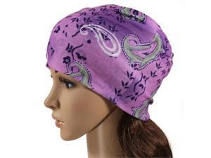 Multi-functional Microfiber Head Wear - Paisley (Purple)