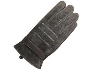 Men's Triple Stripe Driving Gloves - Brown (Size 10)