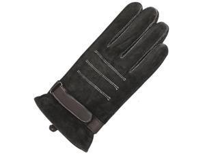 Men's Triple Stripe Driving Gloves - Dark Chocolate Brown (Size 9)