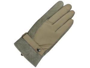Men's Patch Driving Gloves - Camel Tan