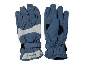 Unisex Wavy Water Resistant Nylon Sport Ski Gloves - Blue