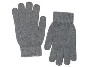 Men's Solid Color Knitted Wool Acrylic Blend Gloves - Gray