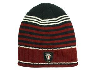 Dahlia Acrylic Men's Fashion Colorful Stripes Knitted Beanie Cap Hat - Red