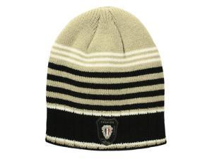 Dahlia Acrylic Men's Fashion Colorful Stripes Knitted Beanie Cap Hat - Tan