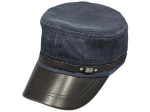 Men's Fashionable Denim Dyed Style Cotton Adjustable Cap - Navy Blue