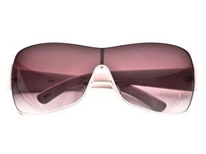 80's - New Fashion Inspired Full Metal Shield Womens Tahoe Designer Sunglasses 8001 + FREE POUCH