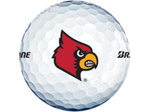 2015 Bridgestone NCAA Collegiate E6 Golf Balls 1 Dozen Louisville White NEW