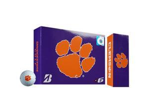 2015 Bridgestone NCAA Collegiate E6 Golf Balls 1 Dozen Clemson White NEW