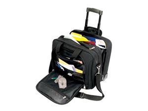 U.S. Traveler Business Rolling Laptop Briefcase with Laptop Holder (Black)