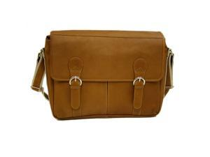Piel Leather Classic Expandable Messenger Bag (Saddle)