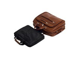 "Mcklein Rockford Leather Checkpoint-Friendly 17"" Laptop Case"