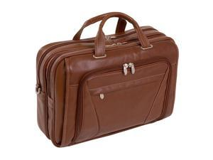 Mcklein Irving Park Leather Double Compartment Laptop Case