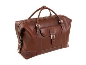 Siamod Amore Leather Duffel Bag (Cognac)