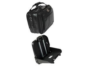Mcklein Chicago Detachable-Wheeled Overnight Bag w/ Removable Briefcase (Black)