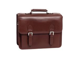 Siamod Belvedere Leather Double Compartment Laptop Case (Cognac)
